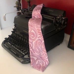 Michael Kors Pink Paisley Tie